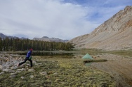 epic camping right before climbing forester pass, which is 13,500 feet. and Poison running.