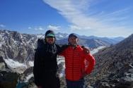 duke and i on top of glen pass.