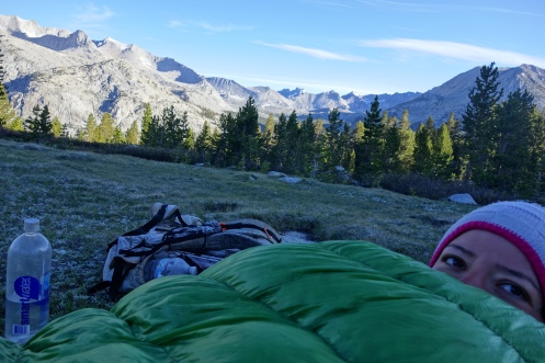 waking up with frost on the sleeping bag