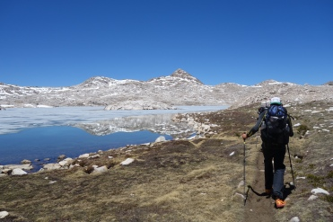 north side of muir pass. view of wanda lake.