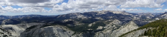 side trip: 20 mile hike over clouds rest over half dome and into yosemite valley. this is a view from clouds rest.