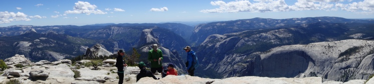 view of Yosemite valley from clouds rest