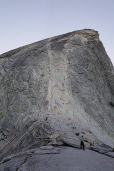 the climb up half dome. looks intimidating from here no?