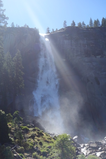 thervada falls in yosemite valley.