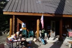 trail magic at carson pass. a breakfast suprise.