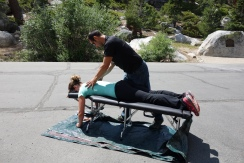best trail magic ever. getting a hitch from a chiropractor.