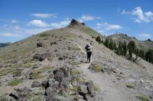 climbin mountains.