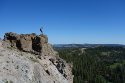 drank some coffee and ate some breakfast on top of this craggy rock.