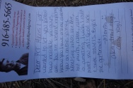 this note was left at the trail head. INSPIRATION!