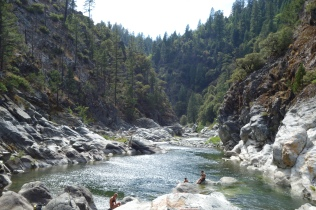 3000 foot descent to a swimming hole. then 3000 feet up to our wonderful camp spot = long 30 mile day.