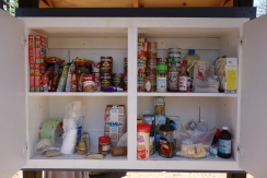 The Bird Cache trail magic. a pantry in the woods.