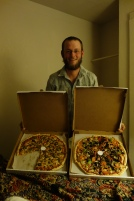 A couple pizzas that skinny ordered and had delivered. i hiked with skinny on the AT.