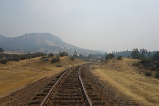 In order to get around the forest fire we had to walk on the railroad tracks for a bit.