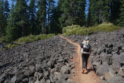 walking through lava fields in oregon. if only pensilvania figured out how to build trails like they did.