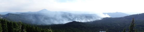 forest fires we had a view of from the ridge line.