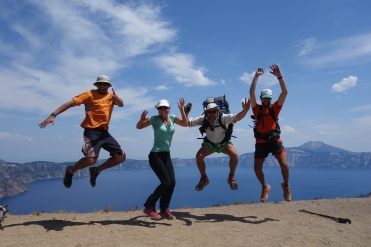 The Crater lake crew.