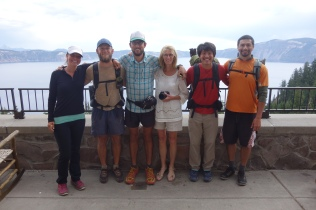 dukes mom bought us a room at the crater lake lodge. here is the crew.