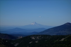 view of mt hood from mt jefferson.