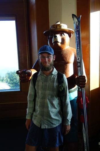 Smooky the bear.
