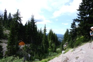 Epic camp spot on the side of Mt Hood.