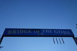 Crossing over into Washington on the Bridge of the Gods.