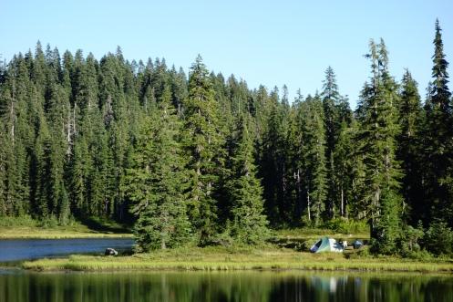 Epic pondside camping.