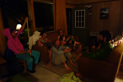 Our hiker party at the last trail town, we rented an a frame house on the banks of lake Chelan. Good times.