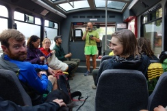 taking the bus to the Steheken bakery.