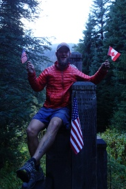 The Canadian Border. Done! 2660 miles from Mexico to Canada.